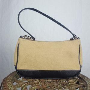Coach Purse Mini Bag Black Tan Cream